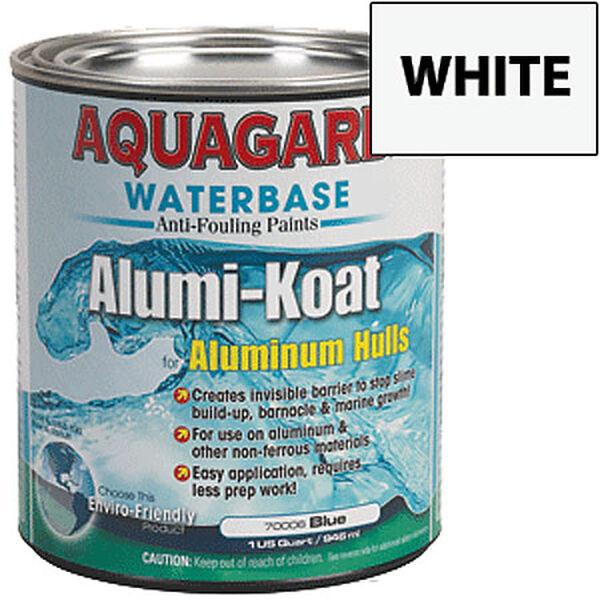 Aquagard II Alumi-Koat Water-Based Anti-Fouling Paint, Quart, White