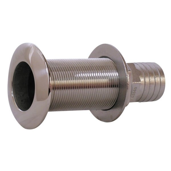 """Whitecap Stainless Steel Thru-Hull Fitting With Barb For 3/4"""" Hose"""