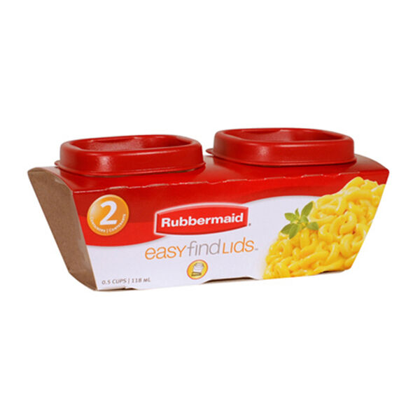 Rubbermaid Two-Pack 1/2-Cup Food Storage Containers with Easy Find Lids
