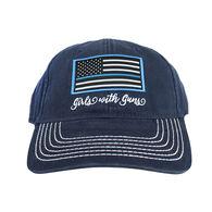 Girls With Guns Thin Blue Line Vintage Trucker Hat
