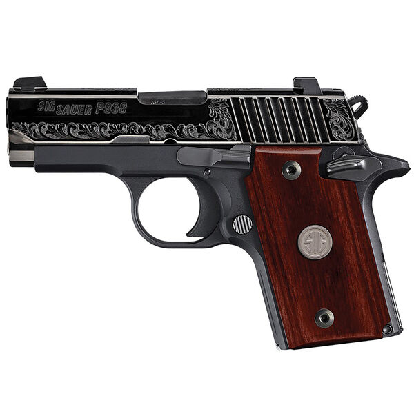 SIG Sauer P938 Rosewood Engraved Handgun