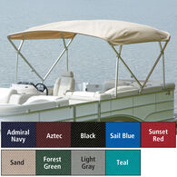 "Extra Long Big Top Pontoon Bimini Top, SurLast Polyester, 1"" Frame, 96""-102""W"