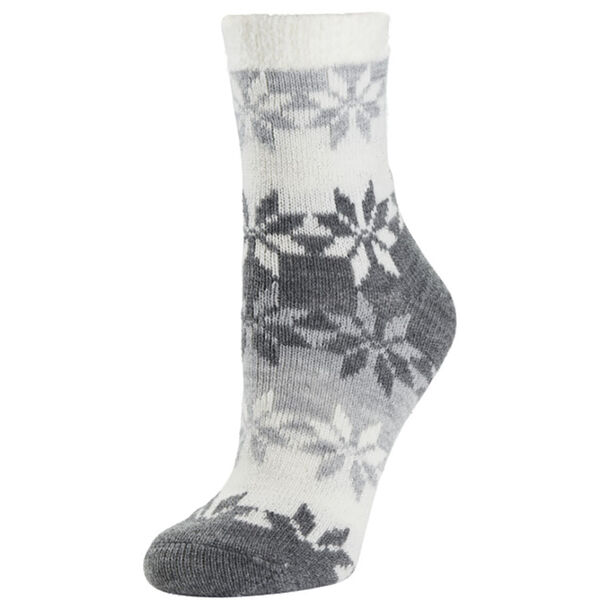 Sof Sole Women's Fireside Colorblock Snowflake Crew Sock