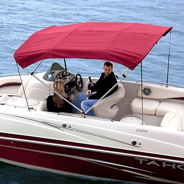 Shademate Sunbrella Stainless 4-Bow Bimini Top 8'L x 54''H 85''-90'' Wide