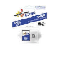 MaxFlash Action MicroSD Memory Card, 64GB