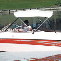 """Shademate Bimini Top White Vinyl Fabric/Boot Only, 4-Bow 8'L x 54""""H, 79""""-84""""W"""