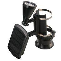 Black Outdoor Solar Powered 4-LED Flagpole Light
