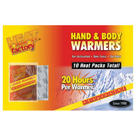 Heat Factory Large Hand & Body Warmers, 10-Pack