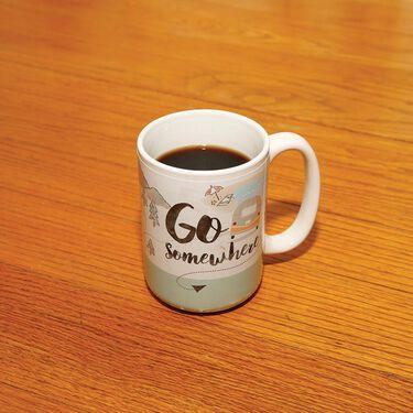 Go Somewhere, Ceramic Coffee Mug, 15 oz.