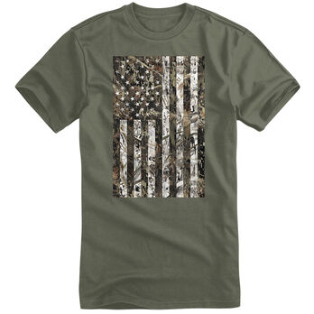 Field Duty Men's Camo Flag Short-Sleeve Tee