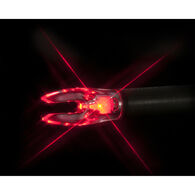 Nockturnal by Rage Universal Fit Lighted Nock, 3-Pack, Red