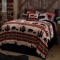 Bear Trails Black 3-piece Sherpa King Bedding Set