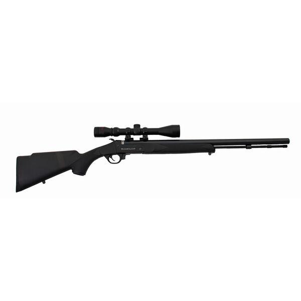 Traditions Firearms Buckstalker .50 Cal Muzzleloader Package, Black/Blued Barrel