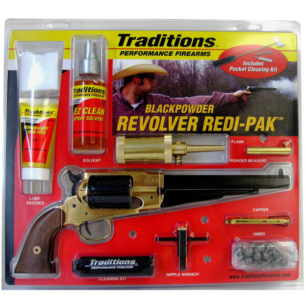 Traditions 1858 Army Brass .44-Caliber Black-Powder Revolver Redi-Pak