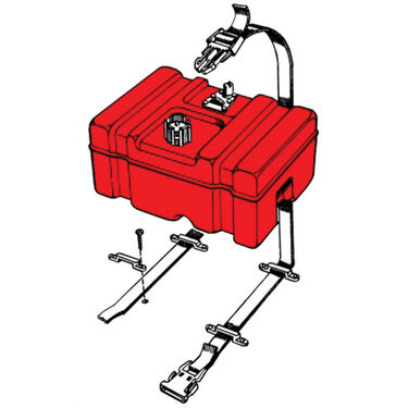 T-H Marine Fuel Tank Hold-Down Kit