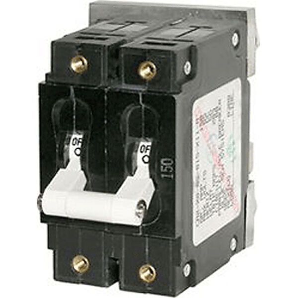 Blue Sea DC Circuit Breaker C-Series Toggle Switch, Double Pole, 175A