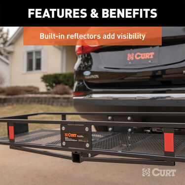 "CURT Hitch-Mounted 60"" x 20"" Basket Cargo Carrier"