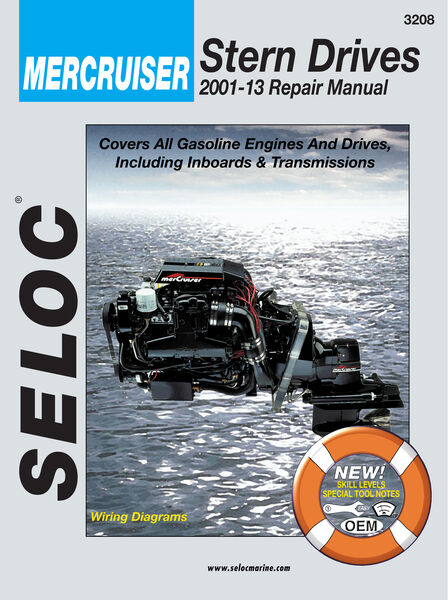 Seloc Marine Stern Drive & Inboard Repair Manual for Mercruiser '01 - '13