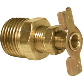 "Brass Water Heater Drain Valve, 1/2"""