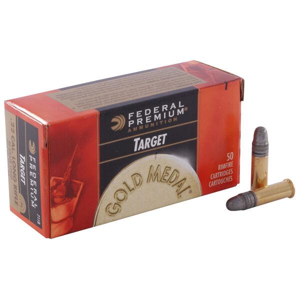 Federal Premium Gold Medal Target Rimfire Ammo, .22 LR, 40-gr., LRN