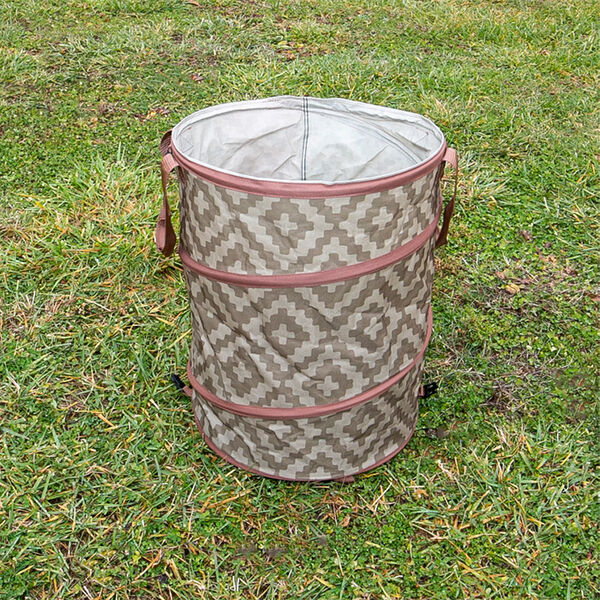 Collapsible Container with Diamond Pattern