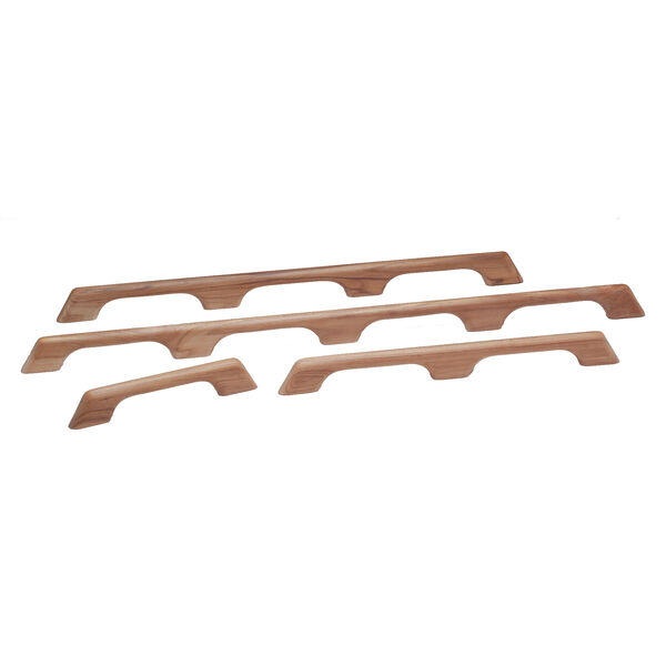 "Whitecap Teak Teak Four-Loop Handrail, 43""L x 2-3/8""H x 1""D"