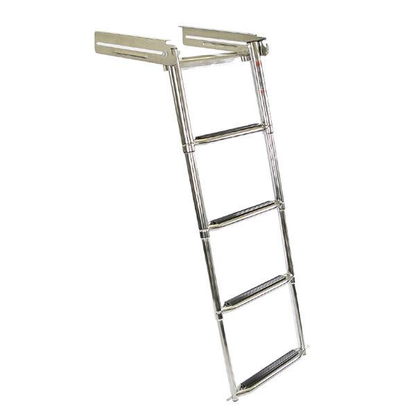 Overton's Slide-in 4 Step Telescopic Stainless Steel Swim Platform Ladder