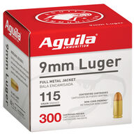 Aguila FMJ Ammunition, 9mm Luger