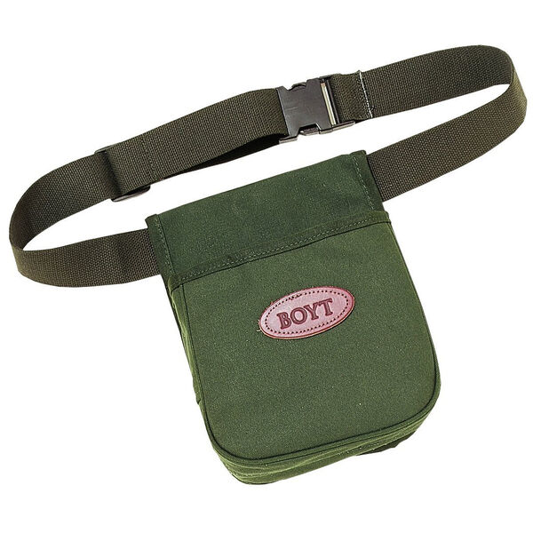 Boyt Signature Series Canvas Twin Compartment Belt Shell Pouch, OD Green
