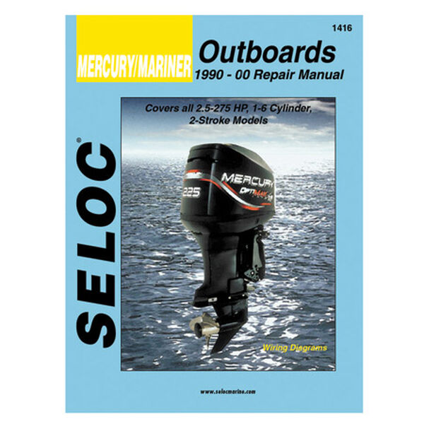 Seloc Marine Outboard Repair Manual for Mercury/Mariner '90 - '00