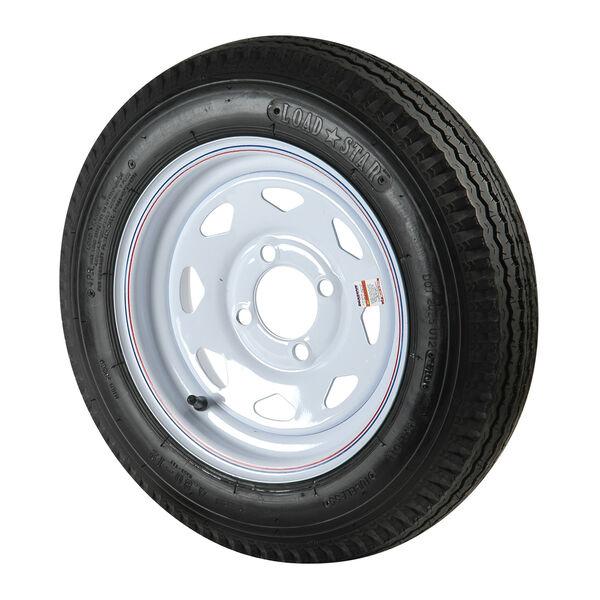 C.E. Smith 5.30 x 12 Bias Trailer Tire With 4-Lug White Spoke Rim