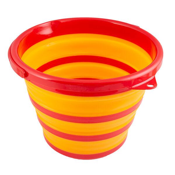 Robert Irvine 10-Quart Collapsible Bucket, Orange