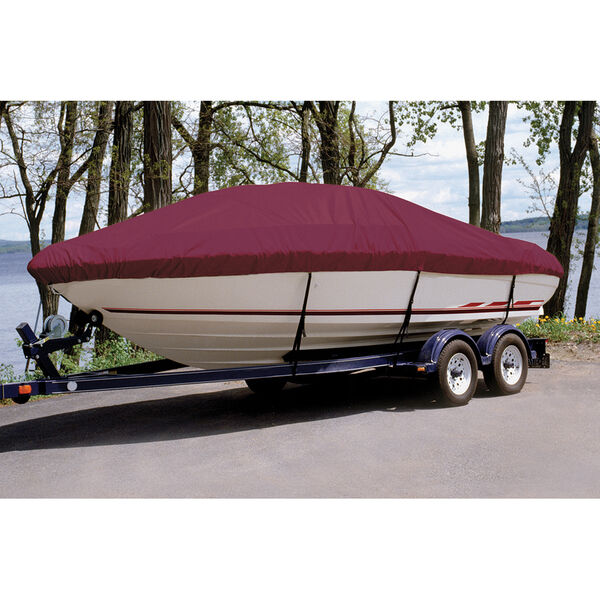 Custom Fit Ultima Solution Dyed Polyester Boat Cover For TAHOE Q6 S PORT