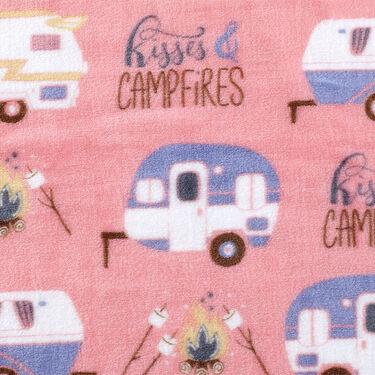 """Kisses & Campfires"" Throw, 55"" x 70"", Pink"