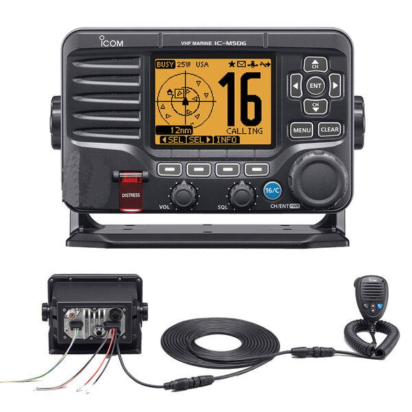 ICOM M506 VHF/AIS Radio With Rear Mic