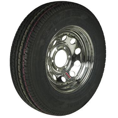 Trailer King II ST225/75 R 15 Radial Trailer Tire, 6-Lug Chrome Modular Rim