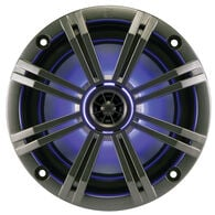 "Kicker 43KM654LCW 6.5"" Two-Way Marine Speakers w/Built-In LED Lighting, Pair"