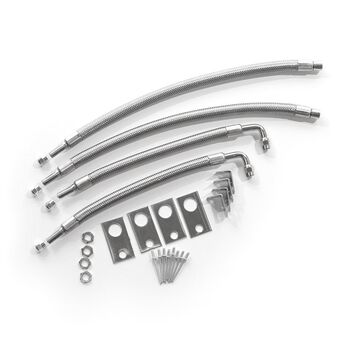 """Dual Tire Inflators - Hub Mount Stainless Steel - 4 Hose Kit for 16""""-19.5"""" Wheels"""