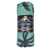 Luv Bug UPF 50+ Sunscreen Towel with Hood, Full-Size, Palm Tree Breeze