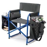 Fusion Chair, Dark Gray with Blue