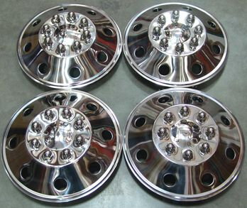 """Namsco Stainless Steel Wheel Covers, Set of 4 - 16.5"""" All Styles"""