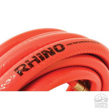 "RhinoFLEX 25' x 5/8"" Orange/Black Clean-Out Water Hose"