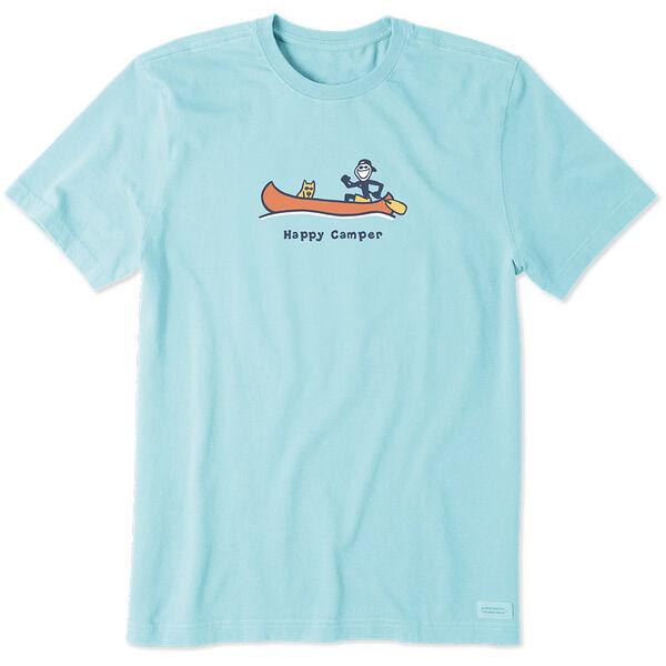 Life Is Good Men's Happy Camper Canoe Vintage Crusher Short Sleeve Tee