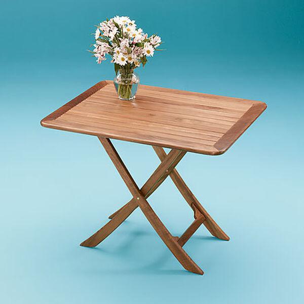 Whitecap Teak Teak Large Adjustable Slat Top Table