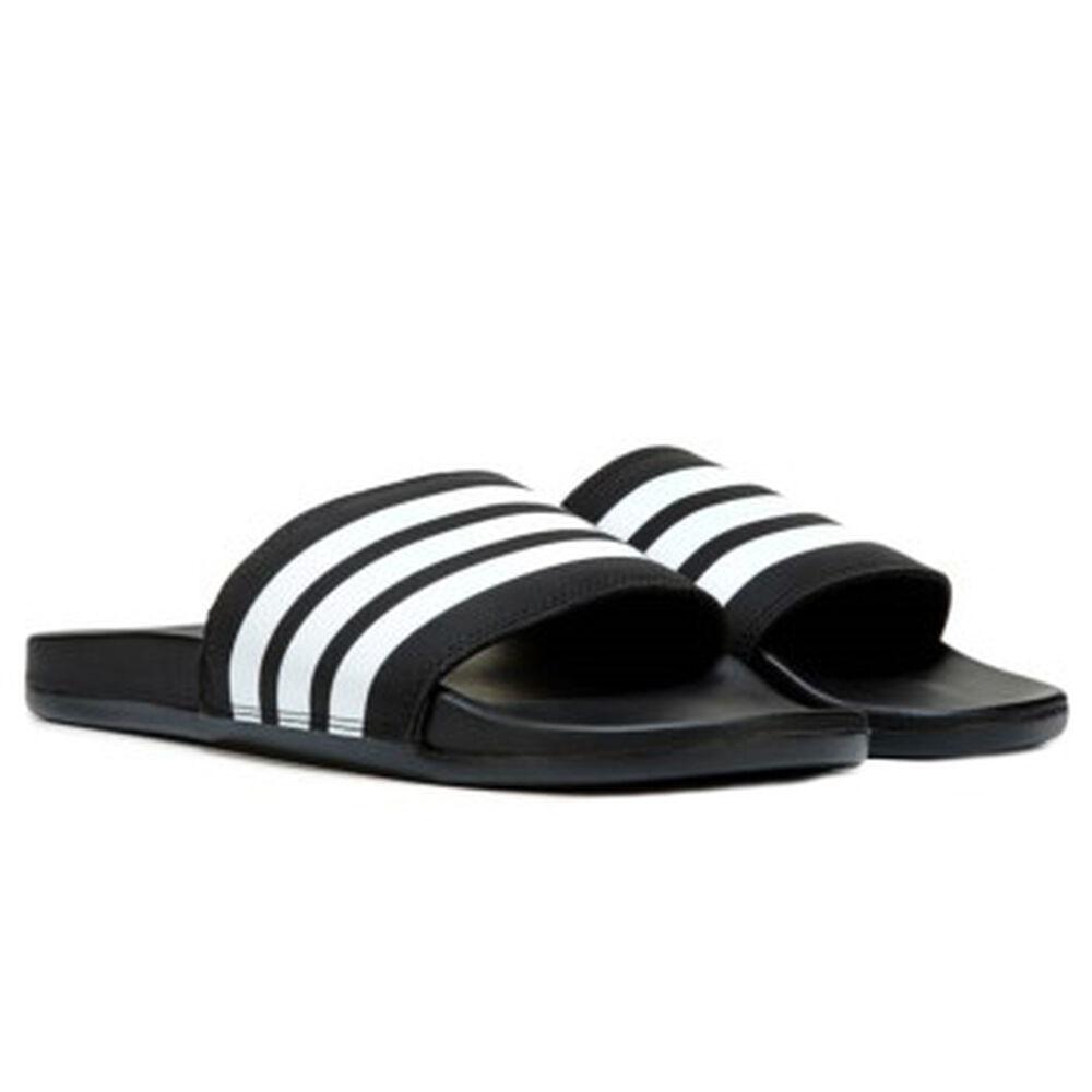 buy popular 4dca0 c1960 adidas Mens Adilette Cloudfoam Plus Stripes Sandal