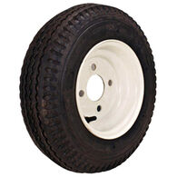 "Kenda Loadstar 8"" 480-8 K371 Bias Trailer Tire With White Wheel Assembly"