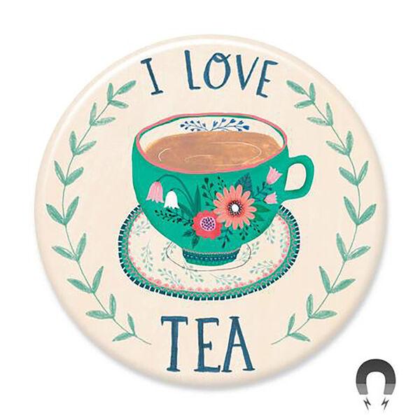 Badge Bomb I Love Tea Big Magnet
