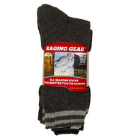 Raging Gear Men's All Season Socks, 4-Pack