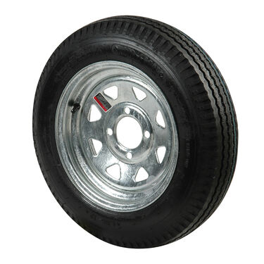 Kenda Loadstar 5.30 x 12 Bias Trailer Tire w/4-Lug Galvanized Spoke Rim