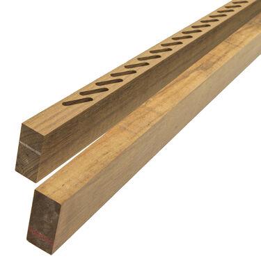 "Whitecap Teak Teak Louvered Door Side Rails, 1 Pair, 1-7/8""W x 7/8""D x 4'L"